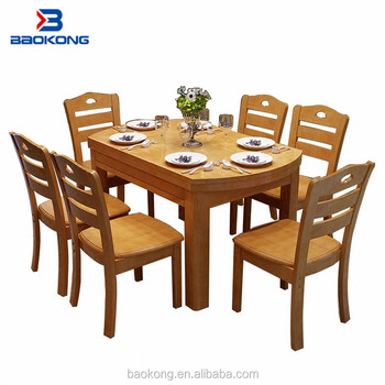 6 Seater Dining Table Set Solid Wood