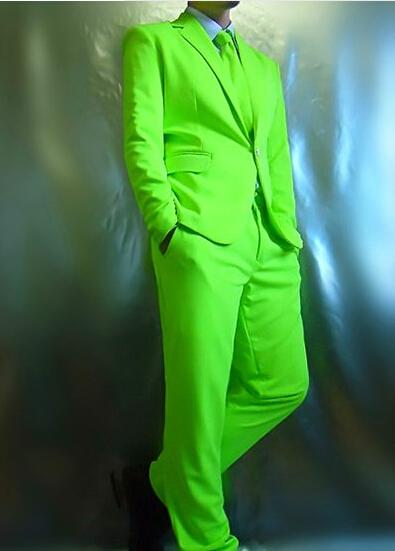 Compra neón traje de hombre online al por mayor de China