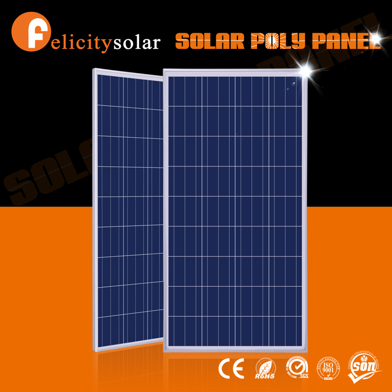 Long lifespan high power 150wp polycrystalline solar panels from factory directly