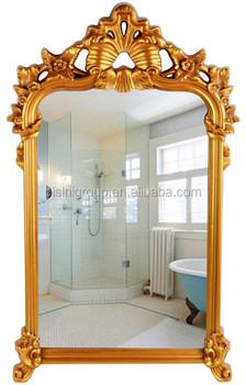Specchio Con Cornice Per Bagno.Classico Stile Francese Rectanlge Floreale Argento E Oro Specchio