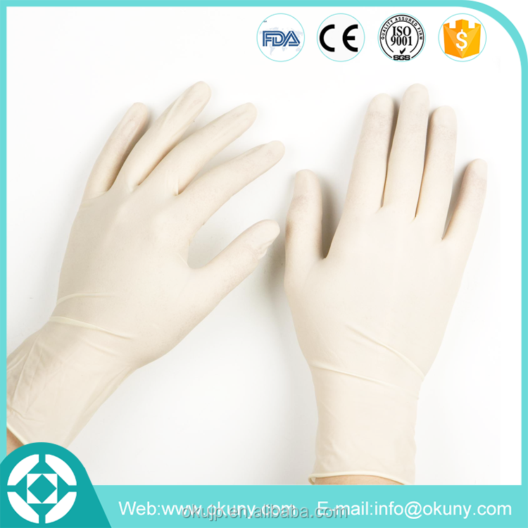 Powder free disposable examination nitrile glove with free samples