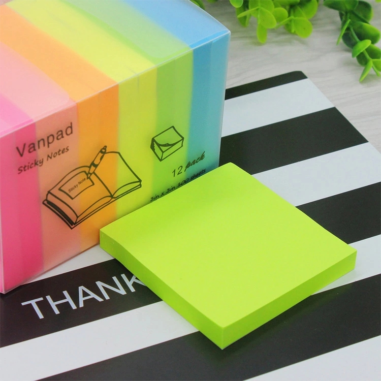 "Myway 3 ""* 3"" 100 Vel/Pak Vormige Mini Kleurrijke Memo Pad Leuke Sticky Notes Memo, custom Sticky Notes"