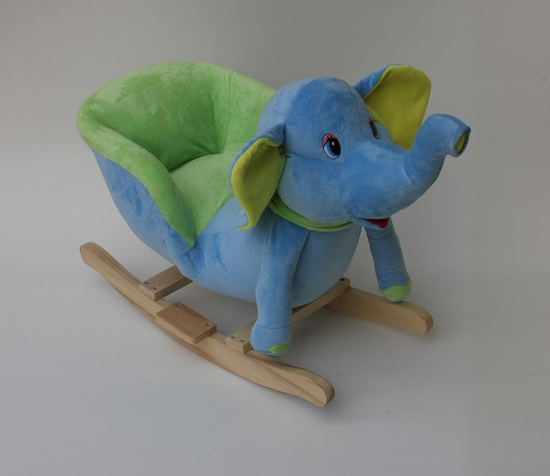 Astonishing 60X32X55Cm Promotional Hot Sale Customized Baby Blue Green Plush Elephant Rocking Chair Toy With Musicwooden Base Buy Plush Animal Rocking Gmtry Best Dining Table And Chair Ideas Images Gmtryco