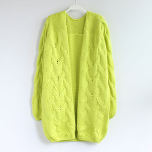 Wholesale hand knitting cartoon cardigan korean style women winter sweater