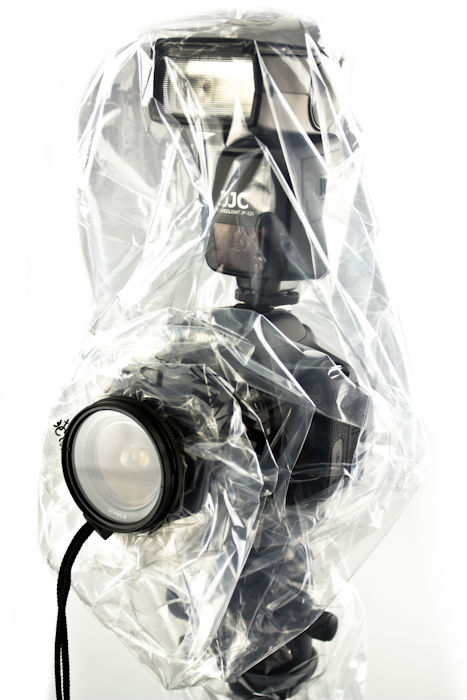 JJC RI-6 Rain Cover protecting your gear from dust and inclement weather,fit flash