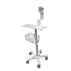 Adjustable Height Workstation Stand Computer Computer CUP Mount Keyboard Tray Clinic Instrument Dental Trolley