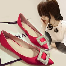 X80822B new fashion style ladies crystals flat wedding shoes women flat flat shoes