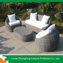 aluminium rattan/wicker garden sofa set