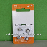 non rechargeable buuton cell 1.4v battery