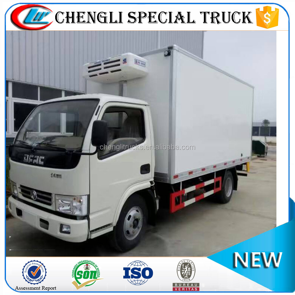 Dongfeng 5T LHD Right Hand Drive Refrigerator Truck 4x4 Diesel Van