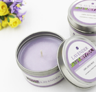 organic soy wax scented lavender essential oil candle favors for wedding birthday