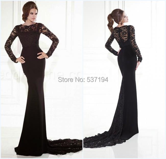 Black Mermaid Prom Dress 2015