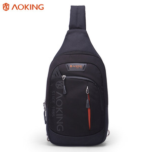 Aoking fashionable waterproof best leisure travel nylon crossbody sling chest bag backpack for men