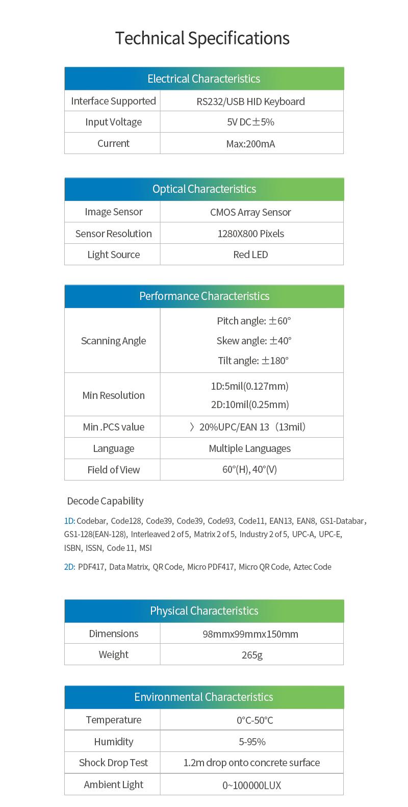 Winson Wai-6000 2d Omni-directional Barcode Scanner Qr Desktop Barcode  Reader Cmos Handsfree Scanner - Buy 2d Omni-directional Barcode Scanner,Qr