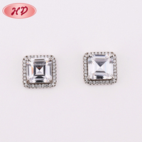 2018 Fashion Wedding Gold Plated Jewelry AAA Cubic Zirconia,Rhinestone Platinum Plated Hanging Stud Earrings for Woman
