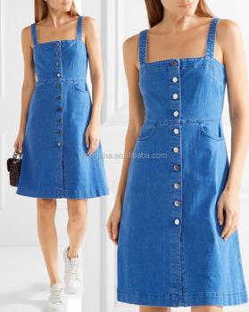 7d18d62350a82d Latest Stretch-Denim Frock Dress Designs For Teenage Girls Names Of Girls  Dresses HSD5684