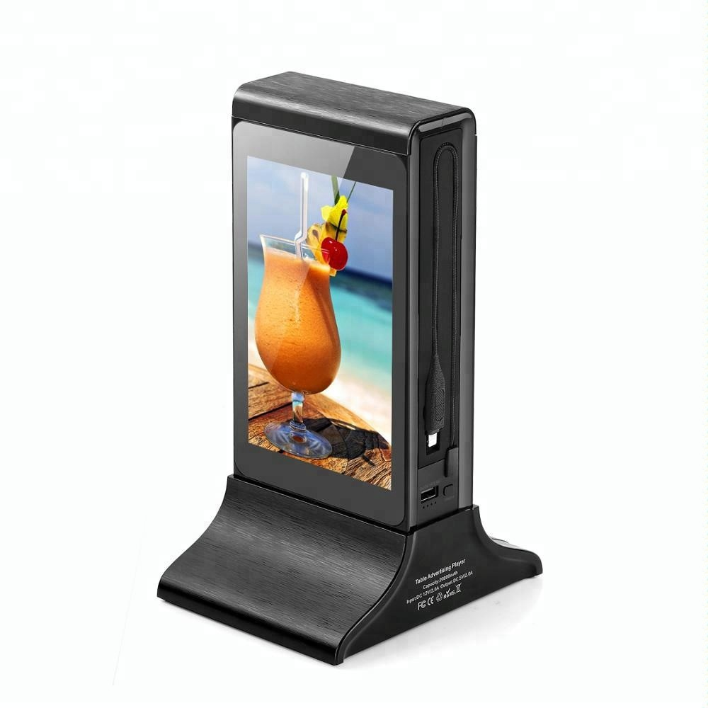 FYD-835SD hot koop 7 inch LCD restaurant tafel menu android reclame display