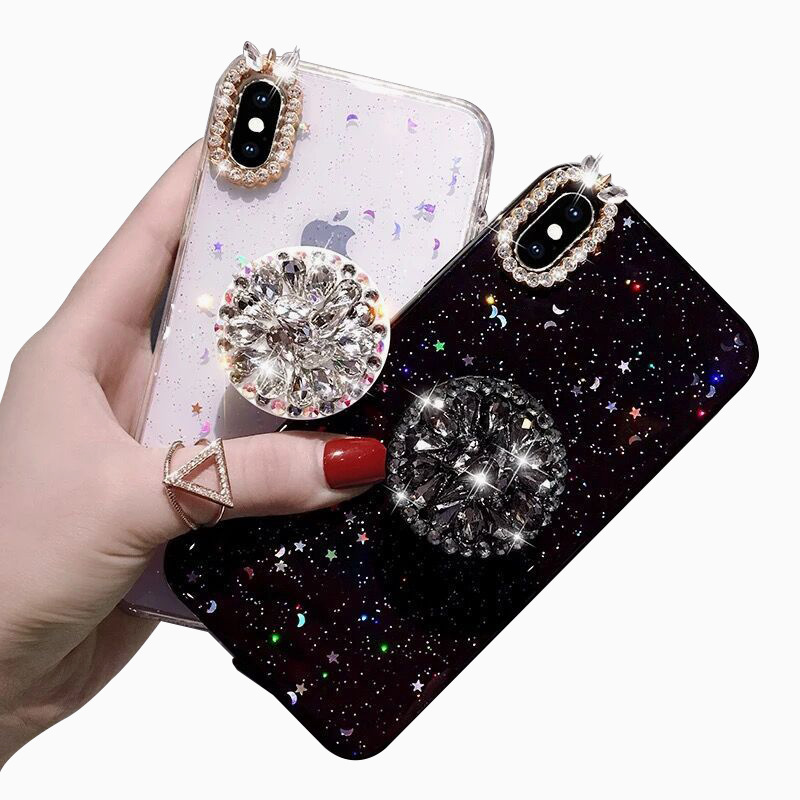 Star bling diamond style tpu mobile airbag phone case for iPhone Xs MAX 6s 7 8 XR фото