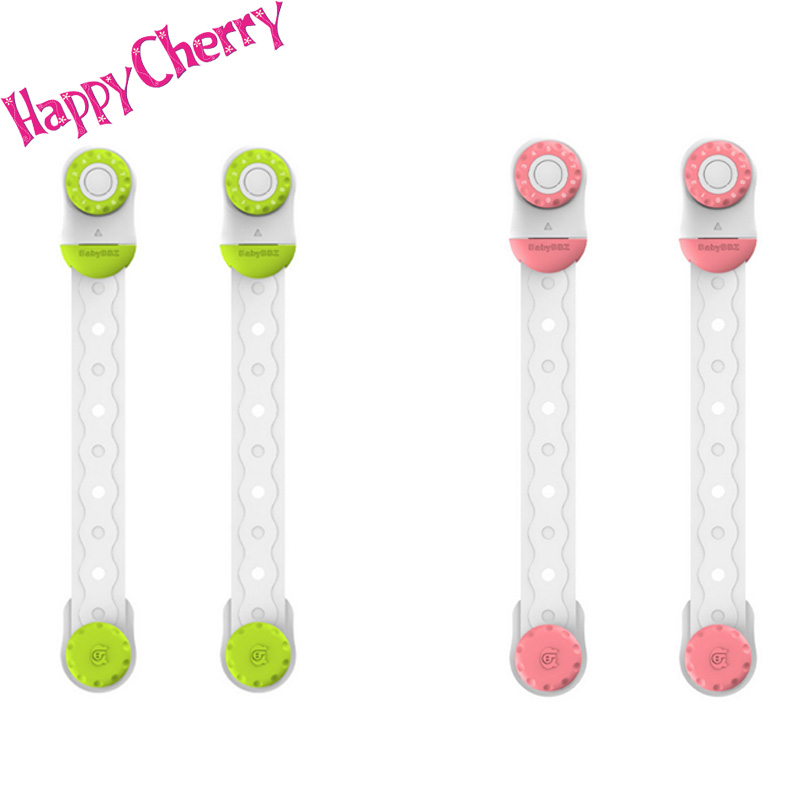 Happy Cherry Baby Double Safety Locks Cupboard/ Drawer Lock Latch,Compass Password Design 2 Pack