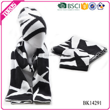TOROS customized acrylic long reversible cable knit pattern scarf