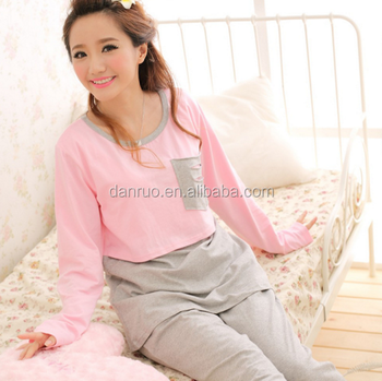 1ad98f2baf12d Postpartum confined take nursing cotton hit to pregnant women suit her long  sleeve leisurewear