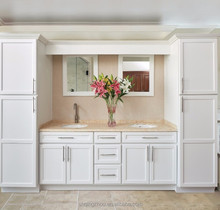 Best sale factory white painted solid wood shaker chinese kitchen cabinet