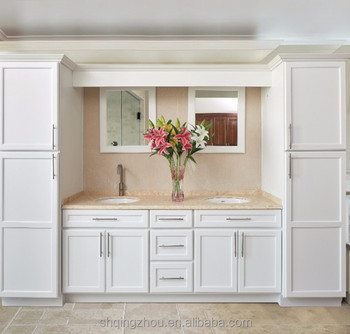 Best Sale Factory White Painted Solid Wood Shaker Chinese Kitchen