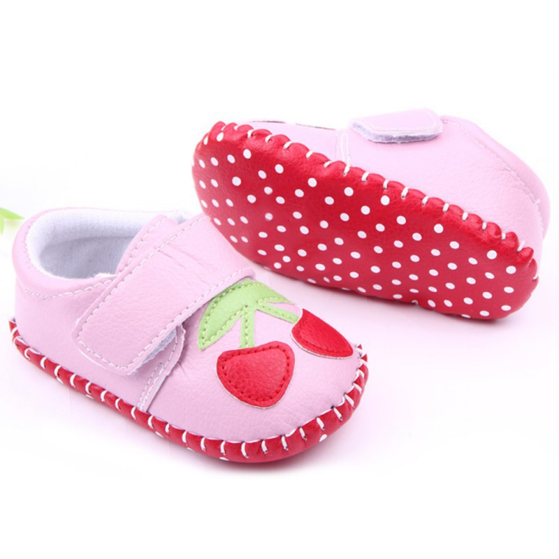 Jinjiu Baby Shoes Newborn Baby Girls Soft Shoes Soled Lace Floral Print Footwear Crib Shoes