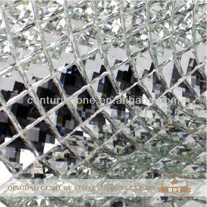 13 facet silver glass mirror mosaic wall tile