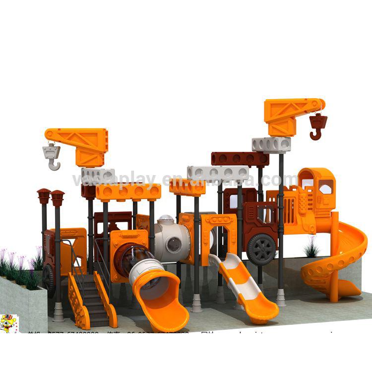 Huaxia Safety Plastic Slide Galvanized Metal Outdoor Playground Equipment for Children