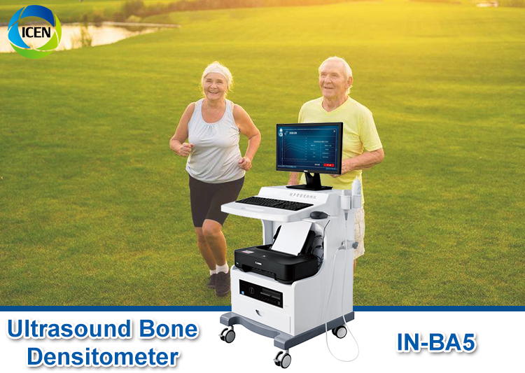 IN-BA5 Hospital Use Portable Trolley Ultrasound Bone Densitometer With Computer And Printer