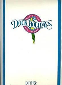 Set of 5 Dock Holidays Menus North Myrtle Beach South Carolina 1993