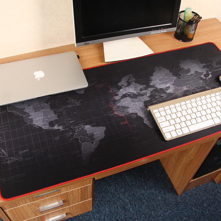 Manufacturer custom high quality fashion world map poker mouse pad