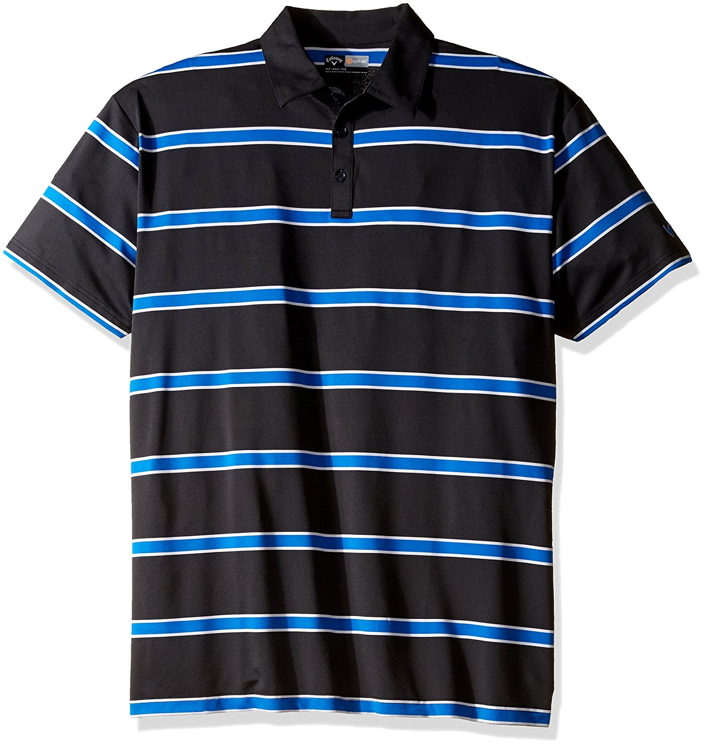 Callaway Men's Big & Tall Golf Performance Short Sleeve Rugby Striped Polo Shirt