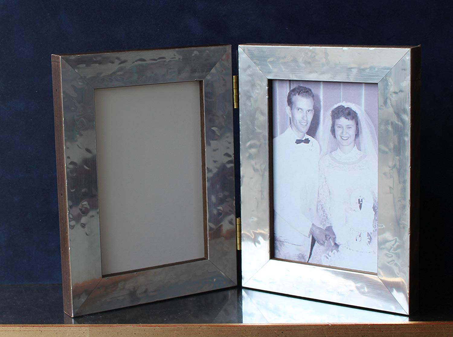 Get Quotations Custom Metal On Wood Series Double Folding Hinged Picture Photo Frame 3 1 2 X