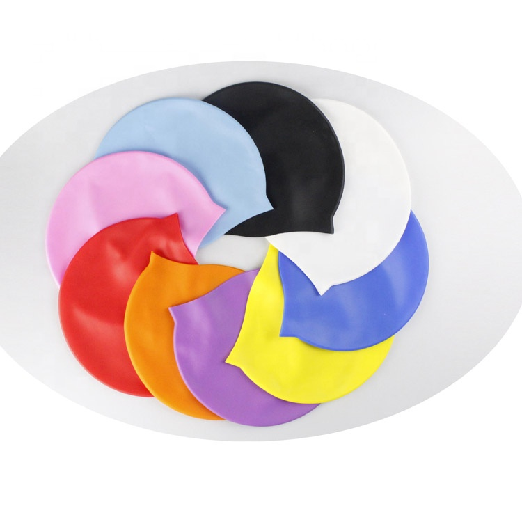 Practical convenient  non nylon silicone competition and leisure using swimming cap