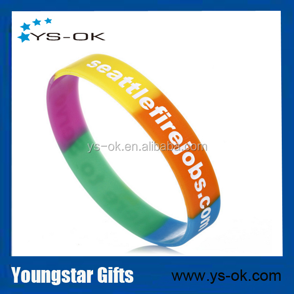 China factory low cost wholesale custom silicone wristband bracelet