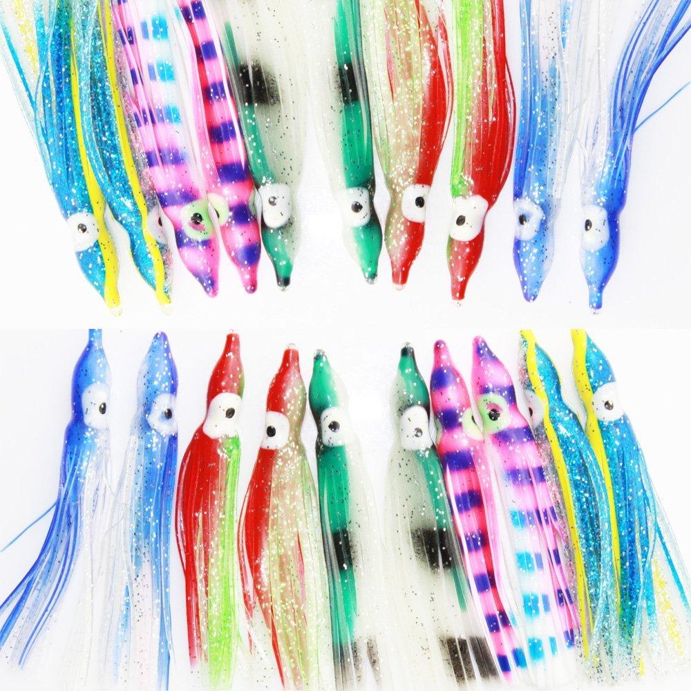 6 pc per pack Night Light 3314 Yamashita Ikanago Aurora Squid Skirt 2.5 inch