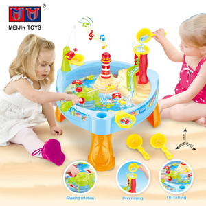 24PCS kids funny water game table electric fishing toy with light music