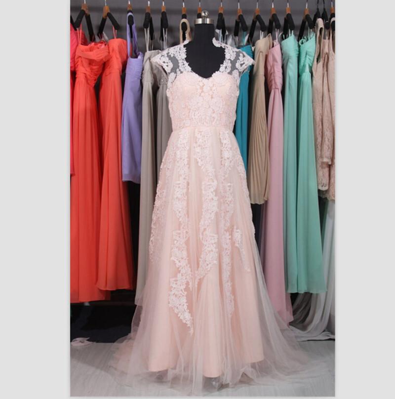 20 Elegant Simple Wedding Dresses Of 2015: Elegant-Real-Sample-Simple-Wedding-Dresses-2015-V-Neck