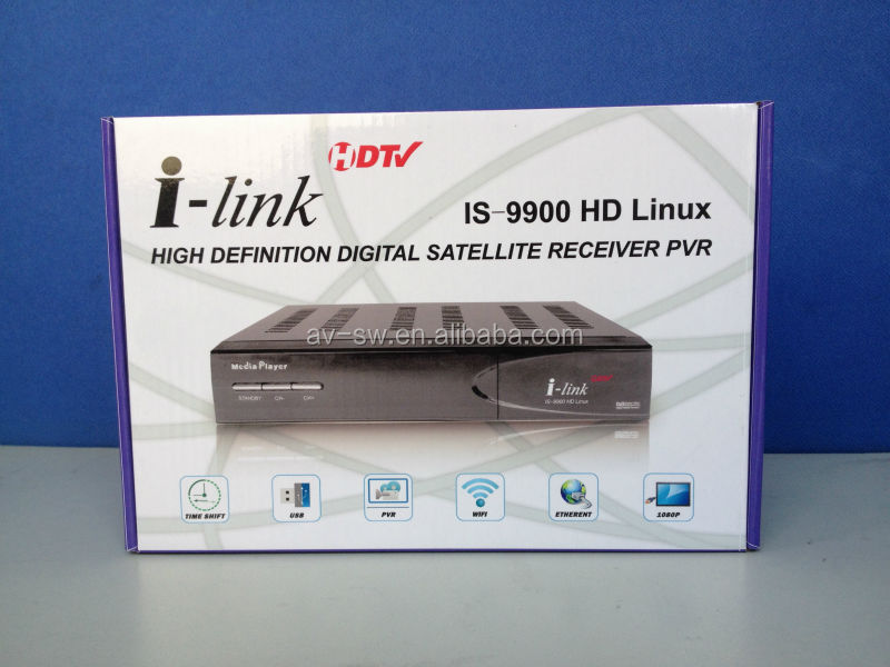 Hua Gang i-link 9900 hd meida palyer linux turbo 8psk dvb-s2 satellite receiver for north america