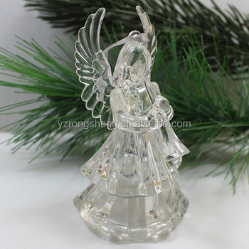 made in china acrylic christmas angel figurines for christmas decoration