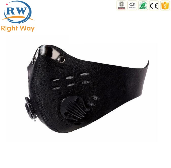 Dust Mask Protect Filter Carbon Dusty Breathable Neoprene Ski Sport Half Face Mask