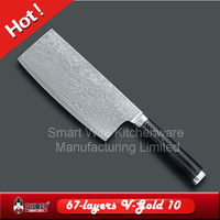 Fashion pattern VG10 damascus cleaver knife