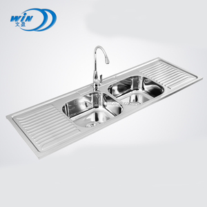 WY-15050D Hot sale double bowl italian kitchen sink from Chinese workshop