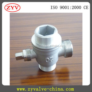 South Korea 3 way ball valve for water