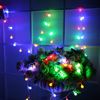 2017 Holiday Christmas lights Wedding LED String Lights Outdoor 10m 100LEDs changeable colour LED Ball String Lighting