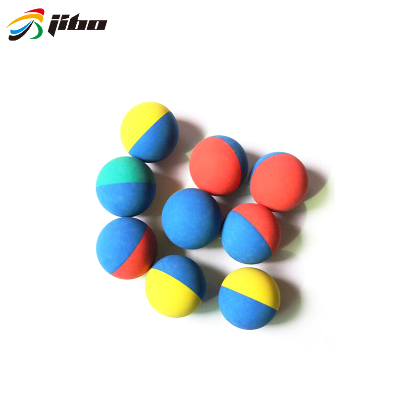 2019 hot selling 5.5cm PU round rubber stress squash ball many color for sale