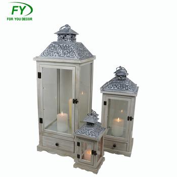 antique grand jardin extrieur dcoratif en bois lanterne bougeoir - Lanterne De Jardin