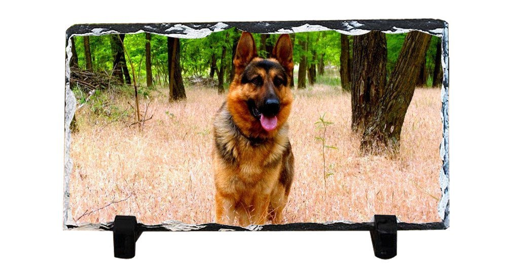 Y.H.X Discount Personalized Picture Frames Photo Rock Slate Dog Photo Plaque Customized Photo Plaque